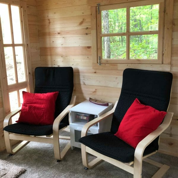Bunkie Life 2018 Model Indoor Sitting Area