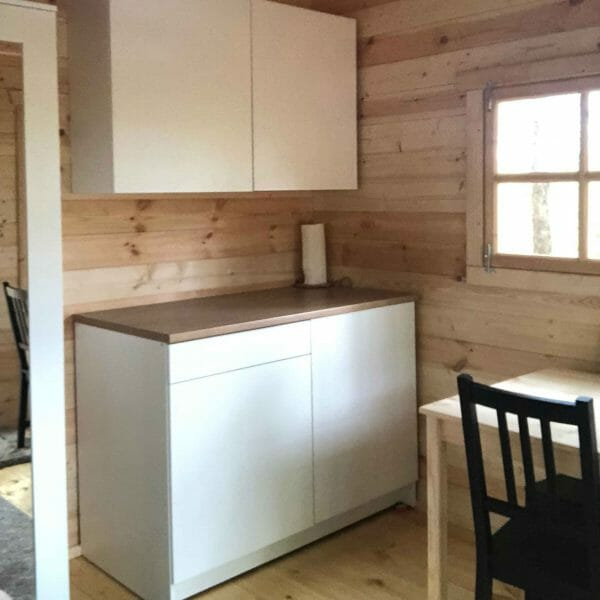 Bunkie Life 2018 Model Inside Mini Kitchen