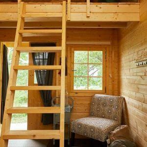 Interior of 2017 Bunkie Model at Bunkie Life