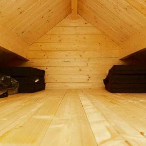 Loft of 2017 Bunkie Model fits a queen bed